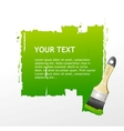 Green Brush speech bubble vector image vector image