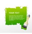 Green Brush speech bubble vector image
