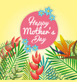 happy mothers day card with floral decoration vector image vector image