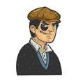 hooligan man black eye sketch vector image vector image