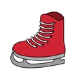 Isolated ice skate of winter sport design vector image vector image