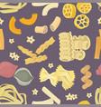 italian pasta food set pattern vector image vector image