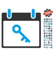 Key Calendar Day Icon With Bonus vector image vector image