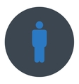 Man flat smooth blue colors round button vector image vector image