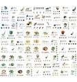 Mega set of new universal company logo ideas vector image vector image