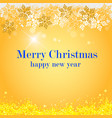 merry christmas christmas decoration gold vector image vector image