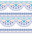 mexican folk art seamless pattern vector image vector image