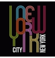 New York T-shirt Typography Graphics vector image vector image