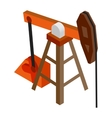 Oil pump isometric 3d icon vector image vector image