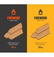 Packaging design for firewood vector image vector image