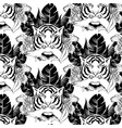 pattern with hand drawn tiger vector image vector image