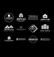 property badge and logo design good for print vector image
