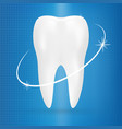 realistic tooth poster stomatology icon isolated vector image vector image
