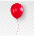 red helium balloon birthday baloon flying vector image