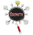 red pencil idea concept red growth education and vector image vector image