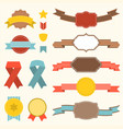 ribbon and badges set 3 vector image