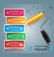 roller paint icon business infographics vector image vector image