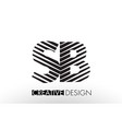 sb s b lines letter design with creative elegant vector image vector image