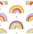 seamless pattern with cute abstract rainbows vector image vector image