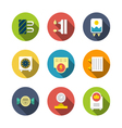 Set flat icons of heating vector image vector image