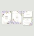 set floral wedding invitation card save vector image vector image