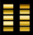 set of gold gradients design elements vector image vector image