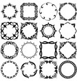 set of pattern grafic frames black and white vector image vector image