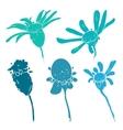 Sketch of floral elements for your design vector image