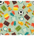 Sports seamless pattern with soccer football icons vector image vector image