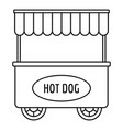 street cart hot dog icon outline style vector image