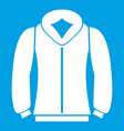 sweatshirt icon white vector image vector image