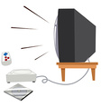 Television and vdo game set vector image