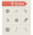 tennis icon set vector image vector image