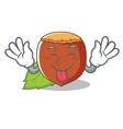 tongue out hazelnut mascot cartoon style vector image vector image