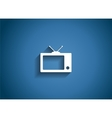 TV Glossy Icon vector image