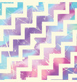zig zag pattern on watercolour vector image vector image