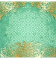 Luxury background with vintage frame and pattern vector image