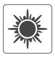 Sun icon Black design element vector image