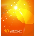 abstract orange sky background vector image