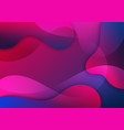 abstract pink and blue gradient waves shape vector image vector image