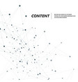 abstract polygonal with connecting dots and lines vector image vector image