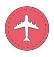 airplane fly vehicle isolated icon vector image vector image