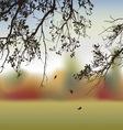 Autumn oak vector image vector image
