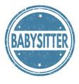 babysitter grunge rubber stamp vector image vector image
