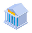bank building icon isometric style vector image vector image