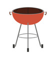 bbq grill front view colorful silhouette vector image vector image