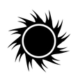 black abstract sun graphic vector image