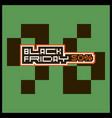 black friday banner retro background vector image vector image