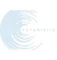 blue circular lines abstract futuristic tech vector image vector image