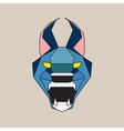 Blue low poly wild cat vector image vector image
